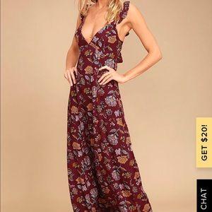 Gorgeous burgundy maxi dress - worn once!